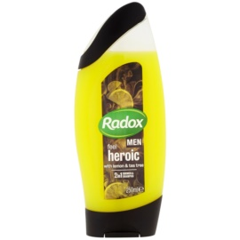 Radox Men Feel Heroic sprchový gel a šampon 2 v 1 Lemon & Tea Tree 250 ml