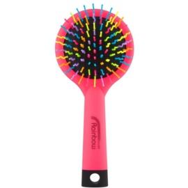 Rainbow Brush Large szczotka do włosów z lusterkiem Pink
