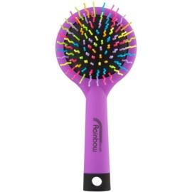 Rainbow Brush Large szczotka do włosów z lusterkiem Purple