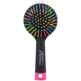 Rainbow Brush Large szczotka do włosów z lusterkiem Black