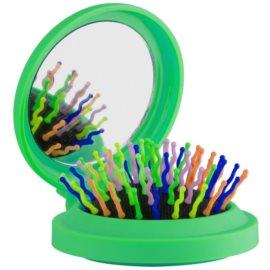 Rainbow Brush Pocket escova de cabelo com espelho pequeno Green