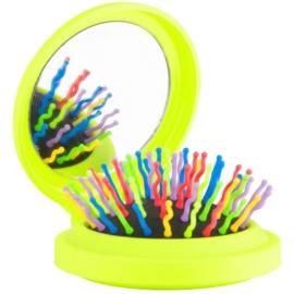 Rainbow Brush Pocket escova de cabelo com espelho pequeno Yellow