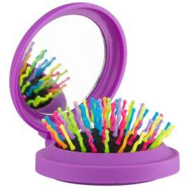 Rainbow Brush Pocket escova de cabelo com espelho pequeno Purple
