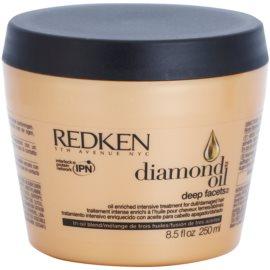 Redken Diamond Oil máscara para cabelo danificado  250 ml