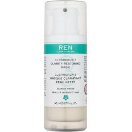 REN ClearCalm 3 maseczka rozjaśniająca do skóry z problemami  50 ml