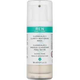 REN ClearCalm 3 aufhellende Hautmaske für problematische Haut, Akne  50 ml