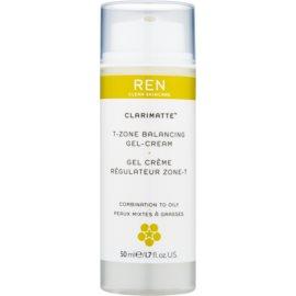 REN Clarimatte™ crema-gel hidratante textura ligera  de acabado mate  50 ml
