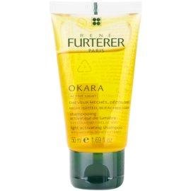 Rene Furterer Okara Active Light champô para cabelo loiro e grisalho  50 ml