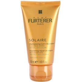 Rene Furterer Solaire Nourishing Shampoo for Hair Damaged by Chlorine, Sun & Salt  50 ml