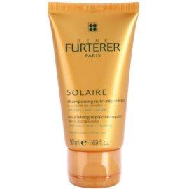 Rene Furterer Solaire подхранващ шампоан  за коса увредена от слънце, хлор и солна вода  50 мл.