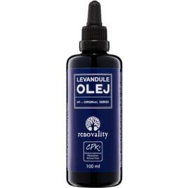 Renovality Original Series masážní tělový olej z levandule  100 ml