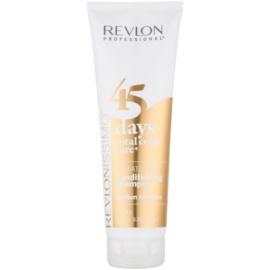 Revlon Professional Revlonissimo Color Care champú y acondicionador 2 en 1 para tonos rubios medios sin sulfatos  275 ml