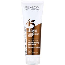 Revlon Professional Revlonissimo Color Care champô e condicionador 2 em 1 para tons castanhos de cabelo  sem sulfatos  275 ml