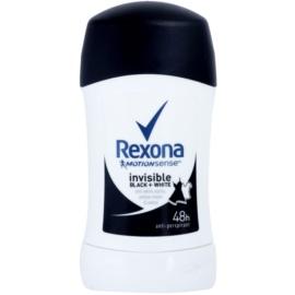 Rexona Invisible Black + White Diamond tuhý antiperspitant 48h  40 ml