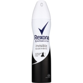 Rexona Invisible Black and White Antiperspirant im Spray (48h) 150 ml