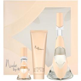Rihanna Nude подарунковий набір І  Парфумована вода 100 ml + Парфумована вода 15 ml + Молочко для тіла 90 ml