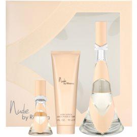 Rihanna Nude dárková sada I. parfémovaná voda 100 ml + parfémovaná voda 15 ml + tělové mléko 90 ml