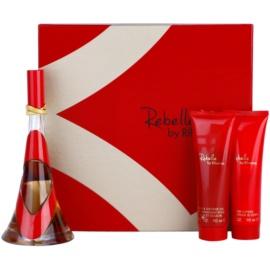 Rihanna Rebelle set cadou  Eau de Parfum 100 ml + Lotiune de corp 90 ml + Gel de dus 90 ml