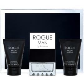 Rihanna Rogue zestaw upominkowy II. woda toaletowa 100 ml + balsam po goleniu 90 ml + żel pod prysznic 90 ml