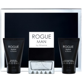 Rihanna Rogue dárková sada II. toaletní voda 100 ml + balzám po holení 90 ml + sprchový gel 90 ml
