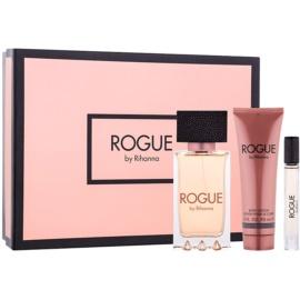 Rihanna Rogue dárková sada III.  parfémovaná voda 125 ml + parfémovaná voda 6 ml + tělové mléko 90 ml