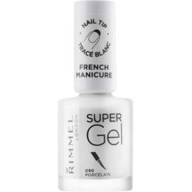 Rimmel Super Gel Step 1 gelový lak na francouzskou manikúru odstín 090 Porcelain 12 ml