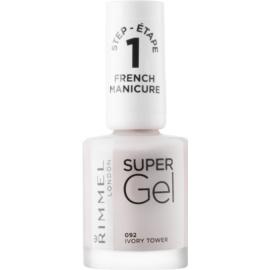 Rimmel Super Gel Step 1 gelový lak na francouzskou manikúru odstín 092 Ivory Tower 12 ml