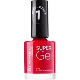 Rimmel Super Gel Step 1 géles körömlakk UV/LED lámpa használata nélkül árnyalat 045 Flamenco Beach 12 ml
