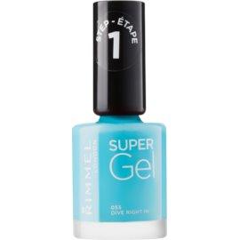 Rimmel Super Gel Step 1 unhas de gel sem usar lâmpada UV/LED tom 053 Dive Right In 12 ml