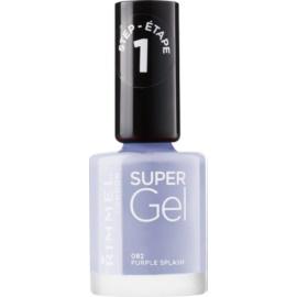 Rimmel Super Gel Step 1 géles körömlakk UV/LED lámpa használata nélkül árnyalat 082 Purple Splash 12 ml