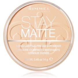 Rimmel Stay Matte puder odtenek 001 Transparent  14 g
