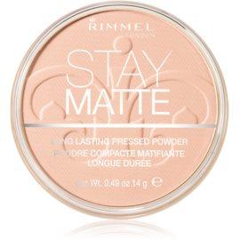 Rimmel Stay Matte puder odtenek 002 Pink Blossom  14 g