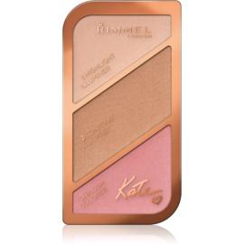 Rimmel Kate paleta za konture obraza odtenek 001 Golden Sands 18,5 g