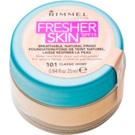 Rimmel Fresher Skin ultra lahka podlaga SPF 15 odtenek 101 Classic Ivory 25 ml