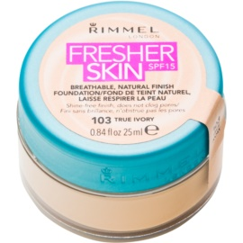 Rimmel Fresher Skin Ultralichte Make-up  SPF 15 Tint  103 True Ivory 25 ml