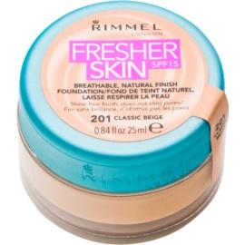 Rimmel Fresher Skin ultra lahka podlaga SPF 15 odtenek 201 Classic Beige 25 ml
