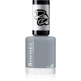 Rimmel Rita Ora lak za nohte odtenek 807 My Grey 8 ml