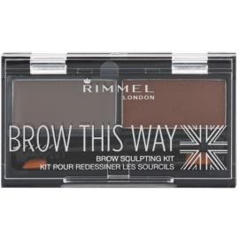 Rimmel Brow This Way Palette voor Wenkbrauw Make-up  Dark Brown 2,4 gr