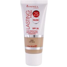 Rimmel Lasting Finish 25H Nude dlouhotrvající make-up SPF 20 odstín 200 Soft Beige  30 ml