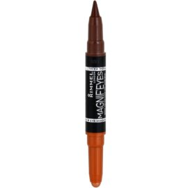 Rimmel Magnif´ Eyes fard de ochi si creion 2 in 1 Kohl culoare 002 Kissed By A Rose Gold 1,6 g