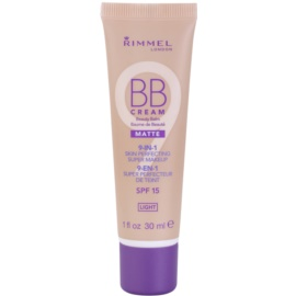 Rimmel Matte BB creme 9 em 1 tom Light SPF 15  30 ml