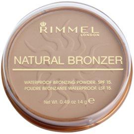 Rimmel Natural Bronzer pudra bronzanta impermeabila SPF15 culoare 022 Sun Bronze 14 g