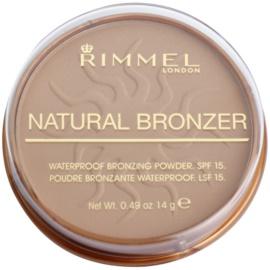Rimmel Natural Bronzer pudra bronzanta impermeabila SPF 15 culoare 022 Sun Bronze 14 g