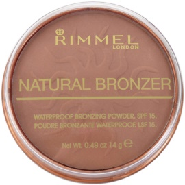 Rimmel Natural Bronzer po bronzeador à prova de água SPF 15 tom 026 Sun Kissed 14 g