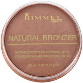 Rimmel Natural Bronzer wasserfester Bronzierpuder LSF 15 Farbton 026 Sun Kissed 14 g