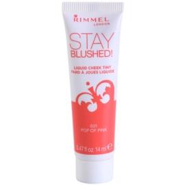 Rimmel Stay Blushed! tekutá lícenka odtieň 001 Pop Of Pink  14 ml