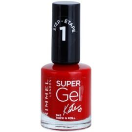 Rimmel Super Gel By Kate géles körömlakk UV/LED lámpa használata nélkül árnyalat 042 Rock n Roll 12 ml