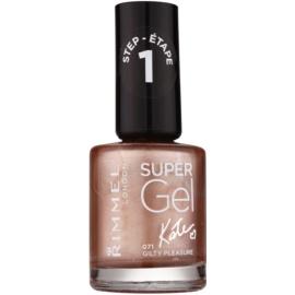 Rimmel Super Gel By Kate géles körömlakk UV/LED lámpa használata nélkül árnyalat 071 Gilty Pleasure 12 ml