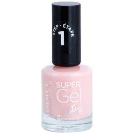 Rimmel Super Gel By Kate gelový lak na nehty bez užití UV/LED lampy odstín 021 New Romantic 12 ml