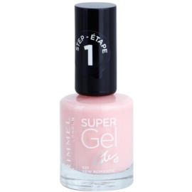 Rimmel Super Gel By Kate żelowy lakier do paznokci bez konieczności użycia lampy UV/LED odcień 021 New Romantic 12 ml